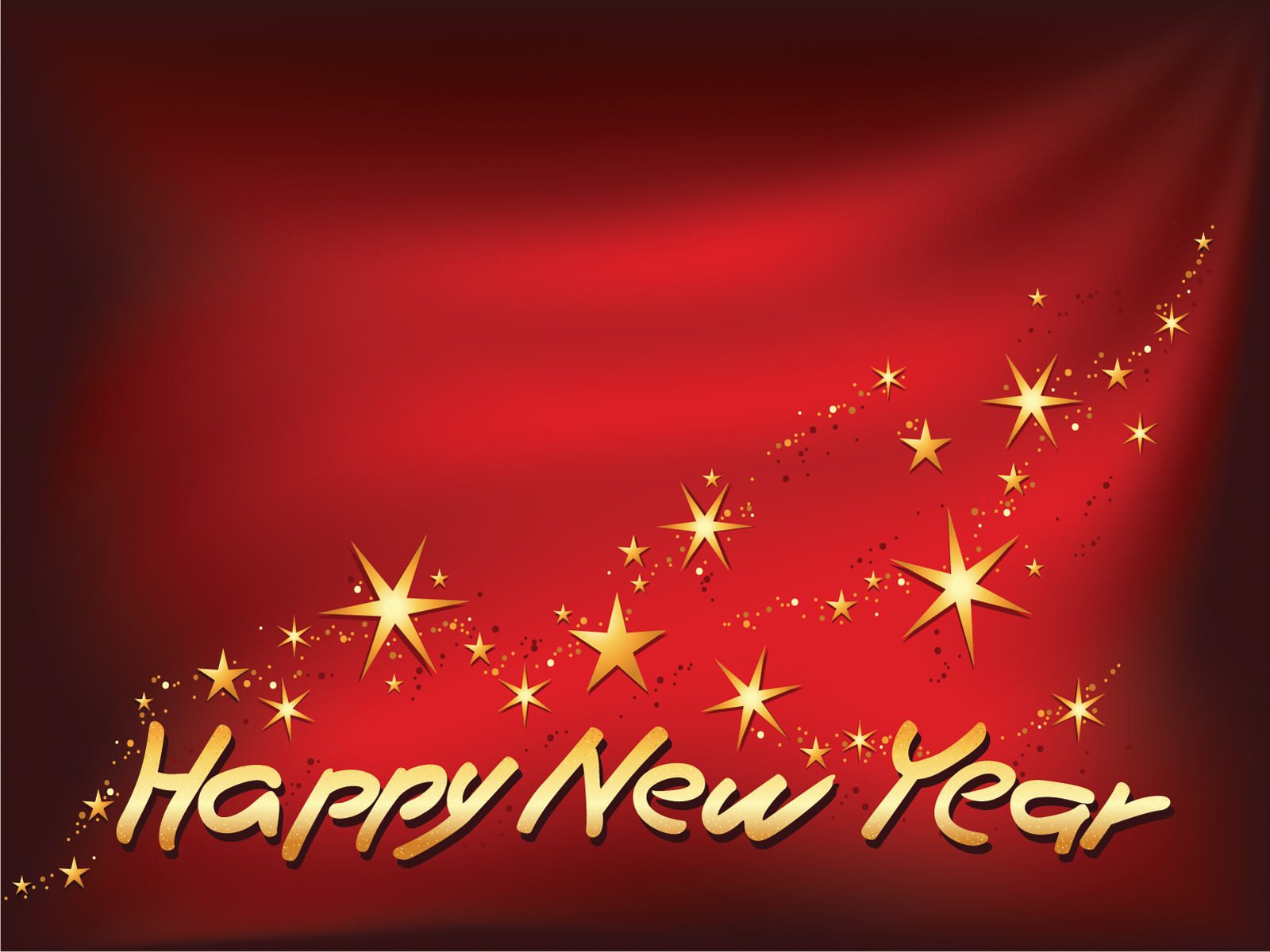 happy new year star theme wishes hd wallpaper