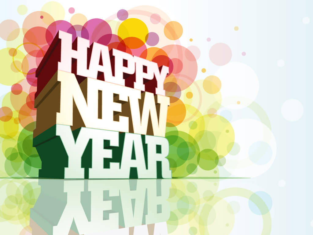 happy new year wishes greetings 3d hd wallpaper