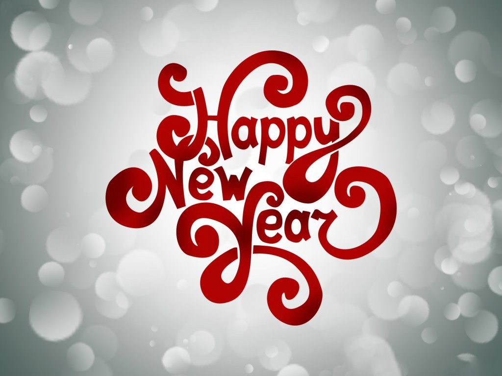 Happy new year wishes greetings text hd wallpaper voltagebd Gallery