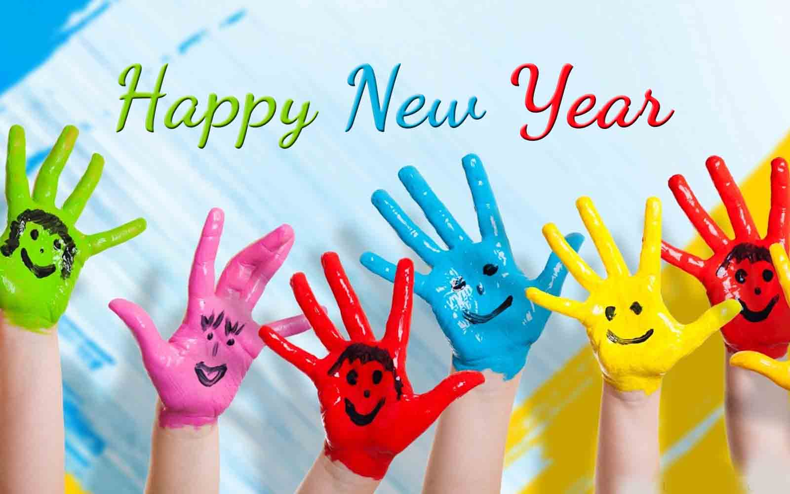 happy new year wishes hand paint colors hd wallpaper
