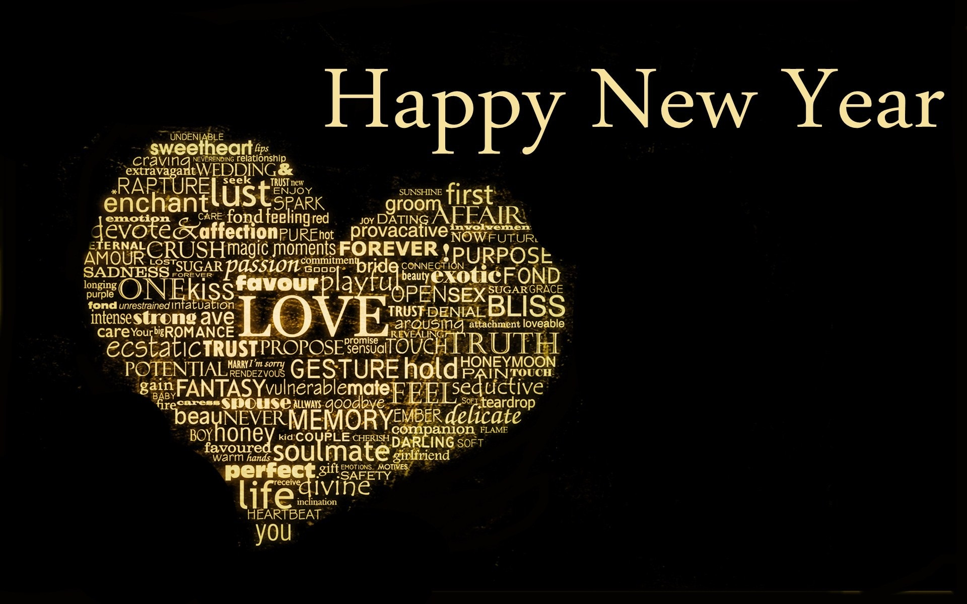 happy new year wishes heart love latest hd wallpaper