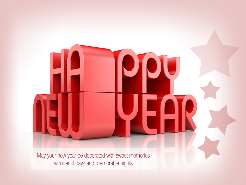 happy new year wishes latest 3d hd wallpaper