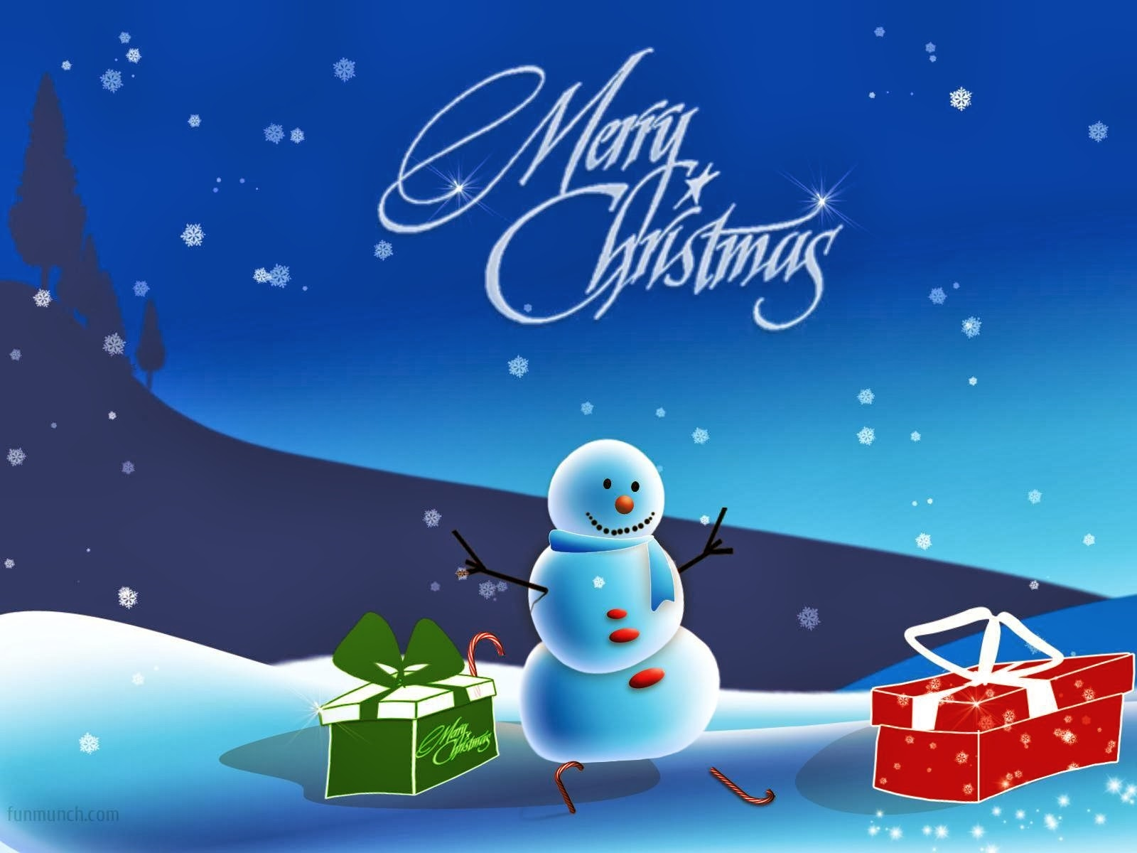 merry christmas snow man wallpaper hd
