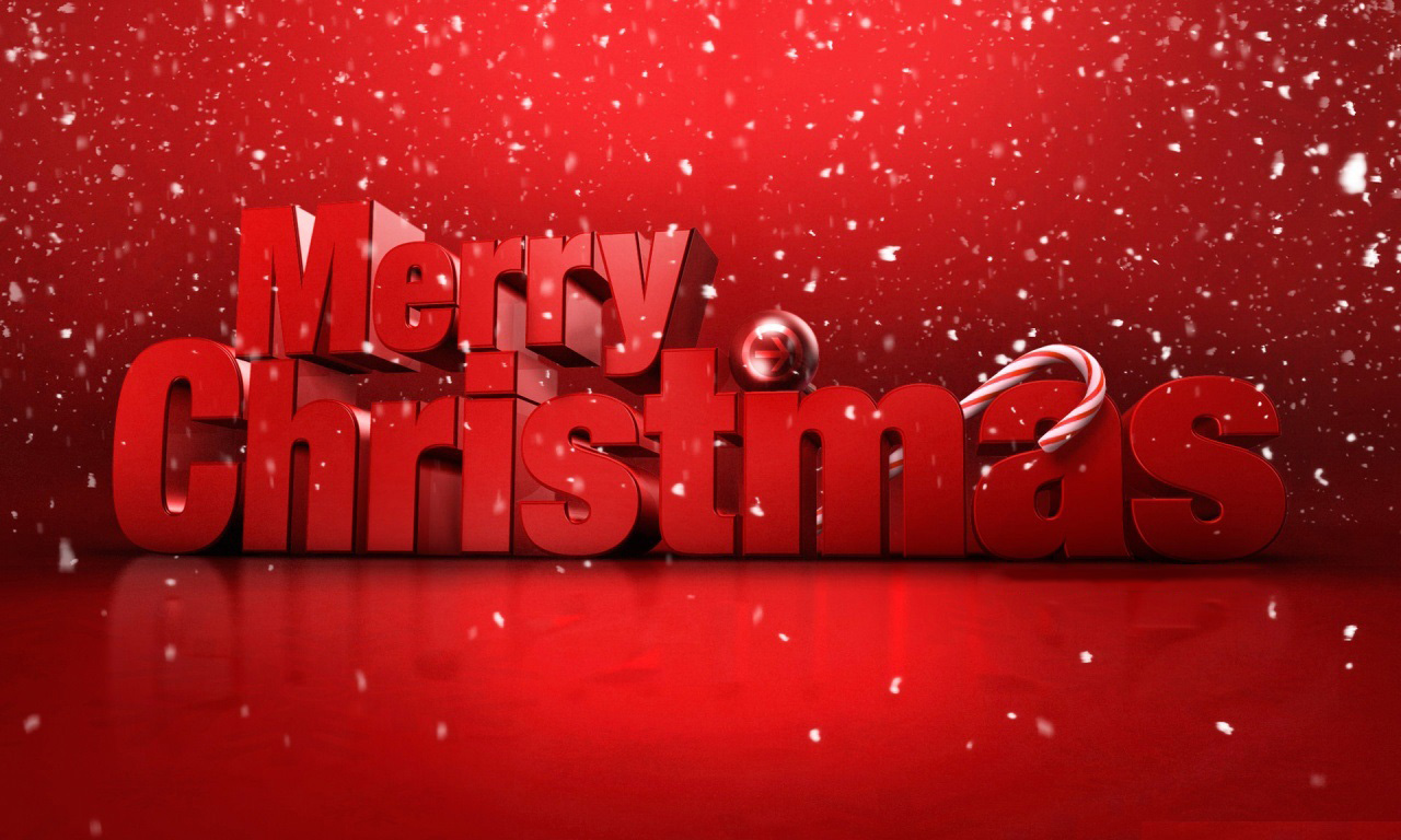 merry christmas wishes red text hd wallpaper