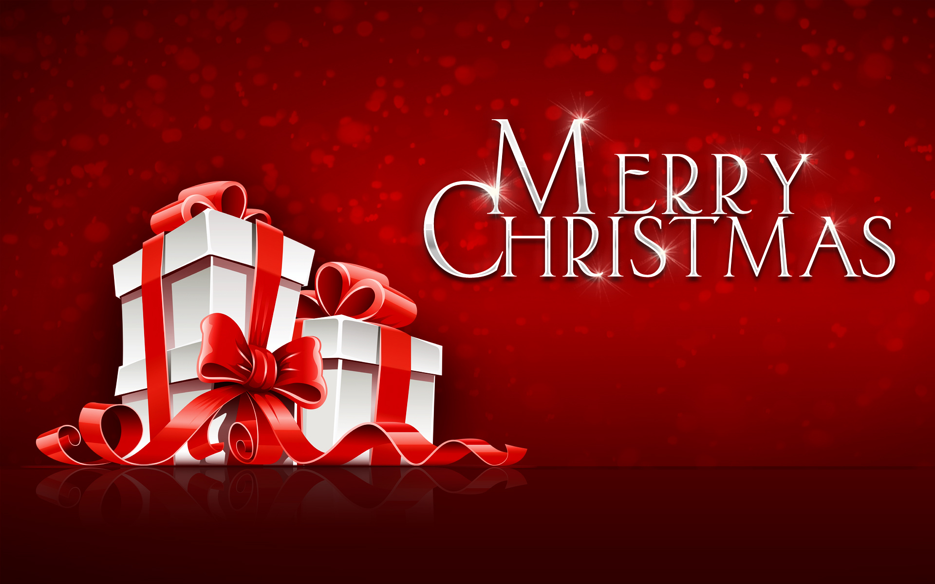 merry christmas wrapped gifts red background wallpaper