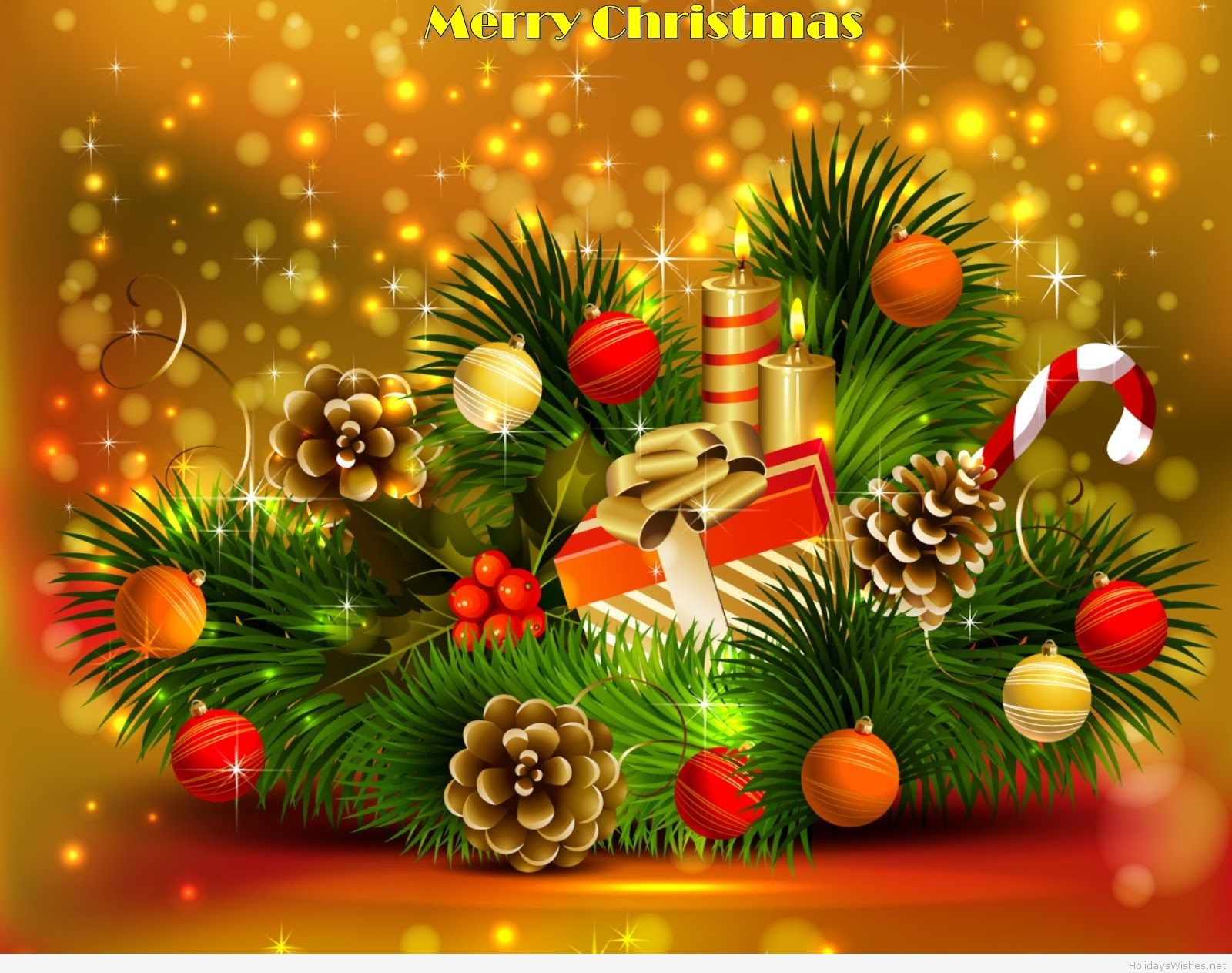 merry happy christmas hd free wallpaper