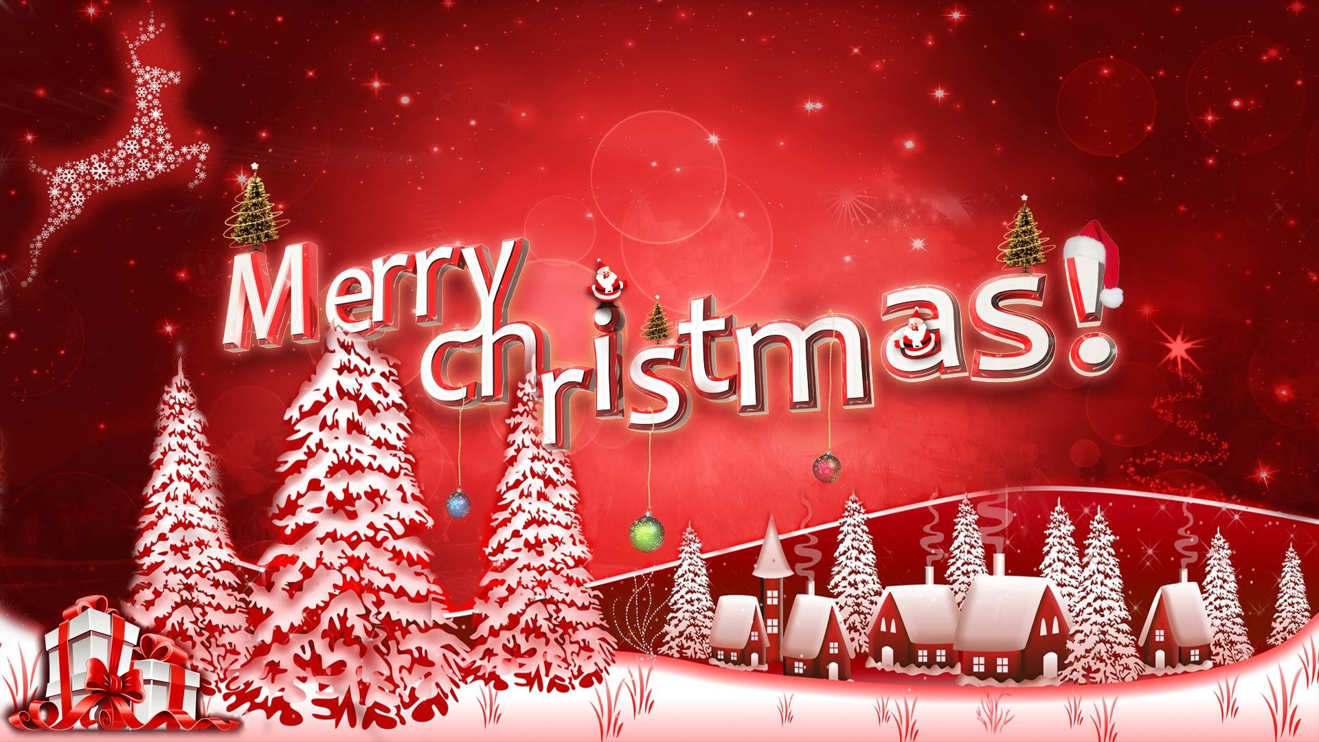 merry happy christmas wishes rein deer