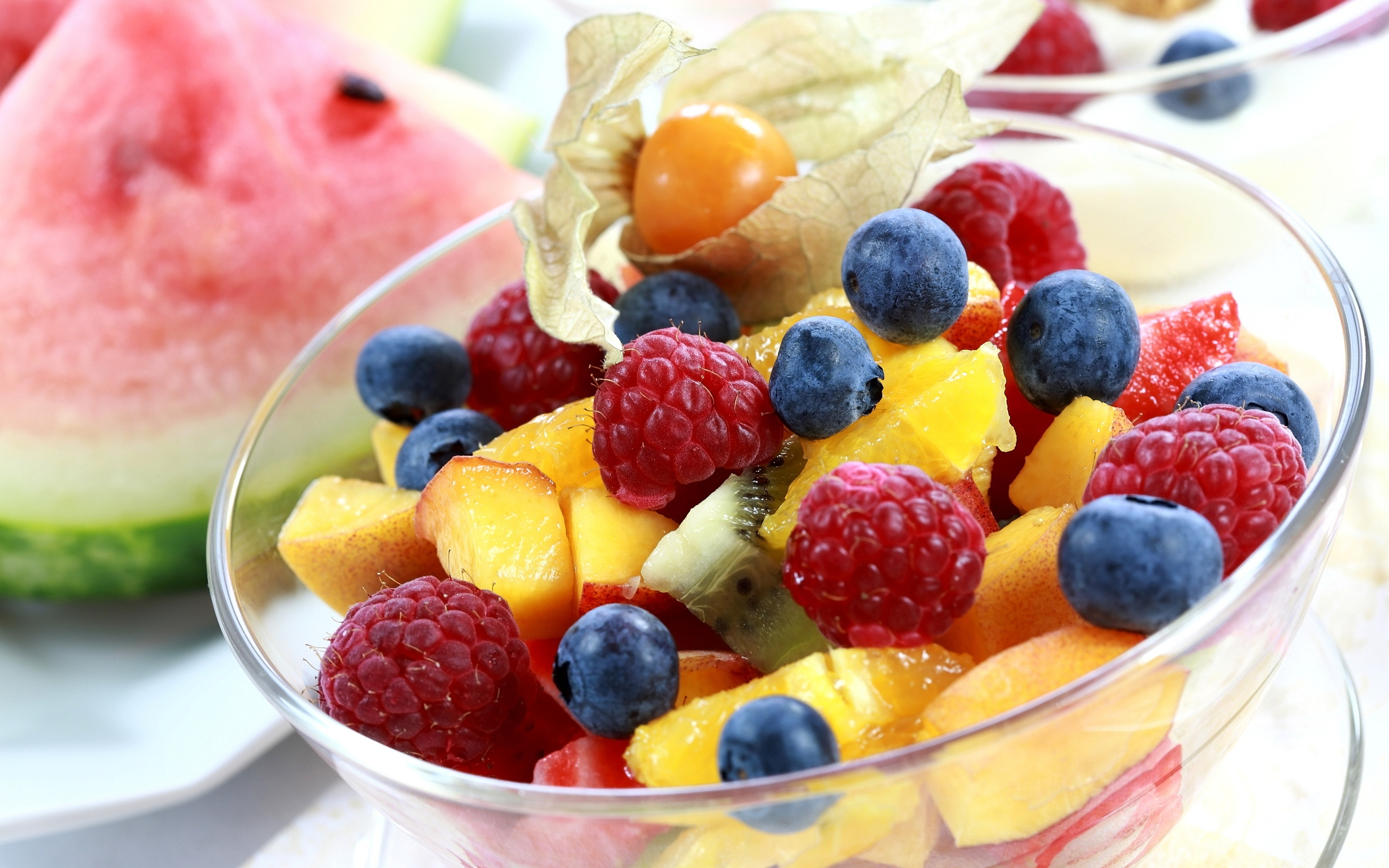 fruits salad background