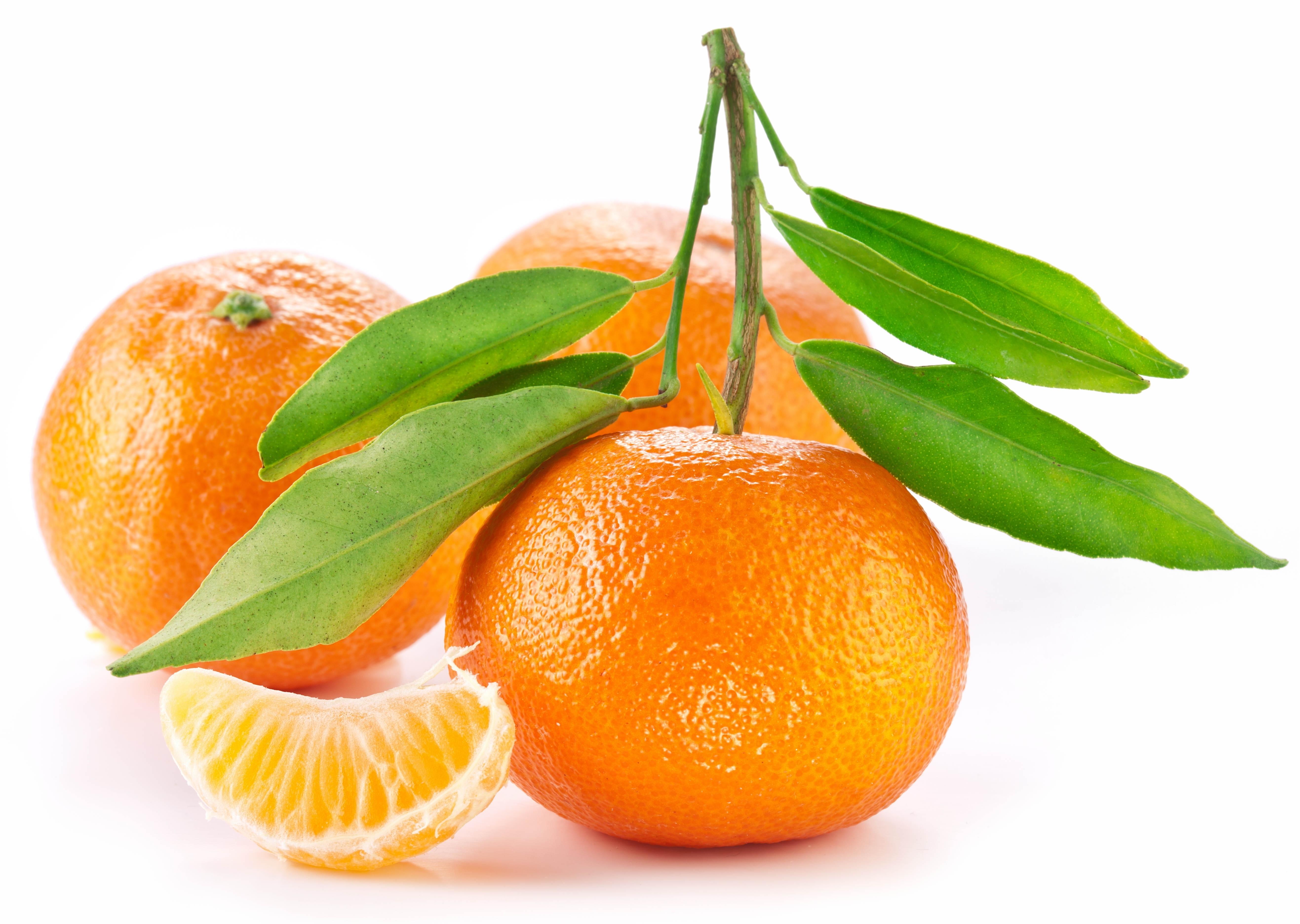 orange fruit with leaf hd