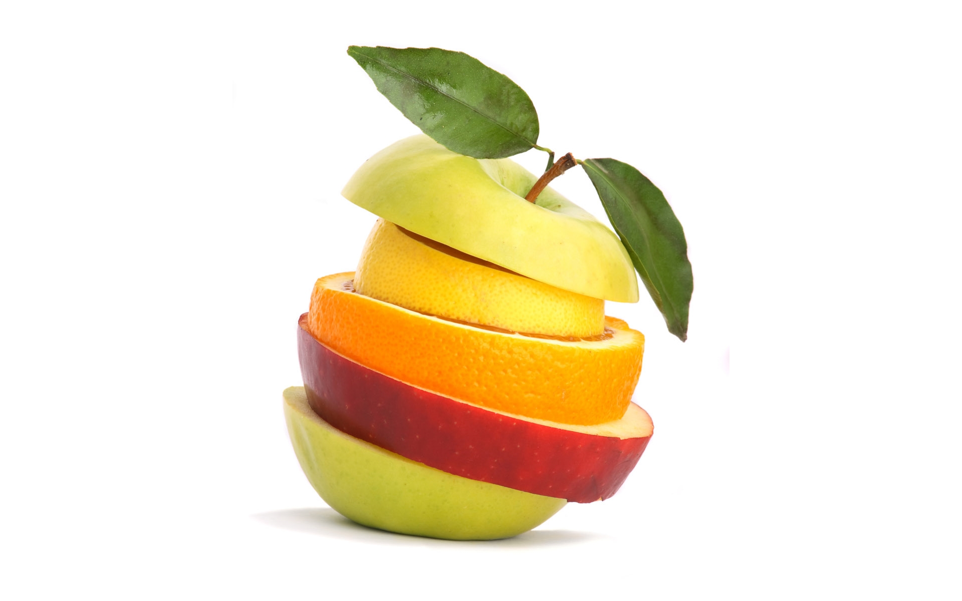 stacked slices of fruit hd