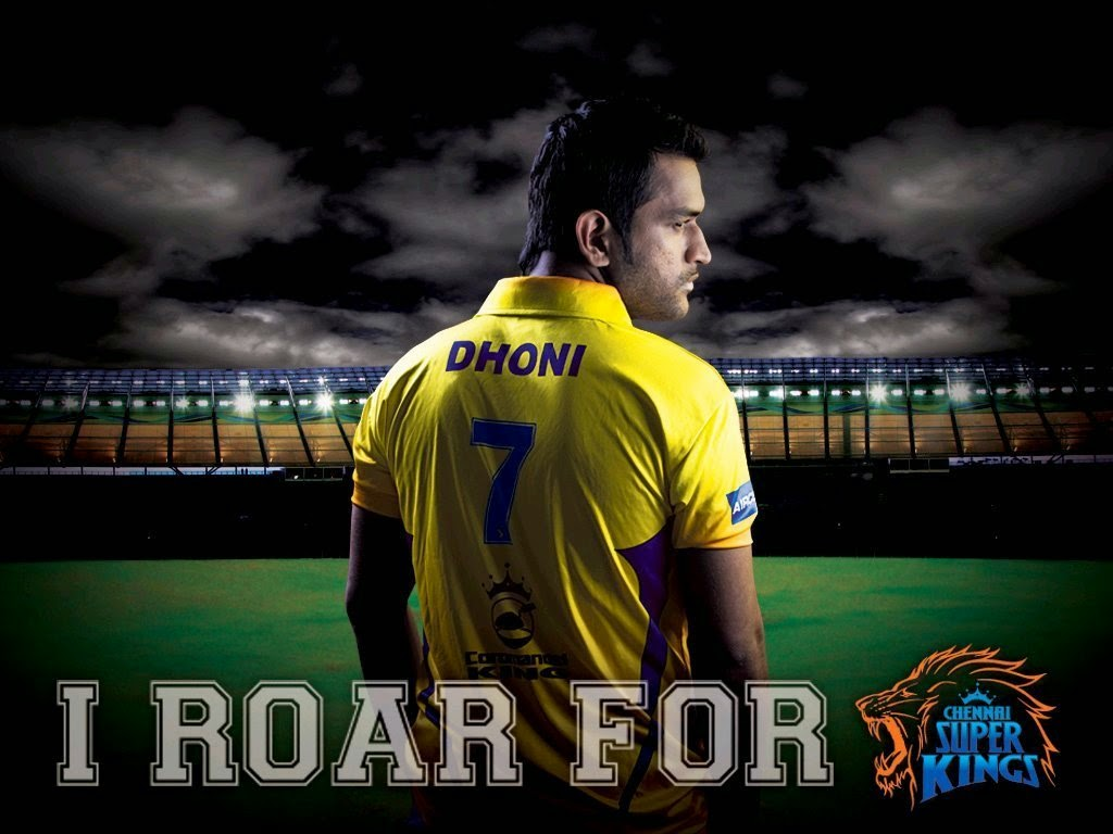 ipl csk chennai super kings i roar for dhoni hd wallpaper