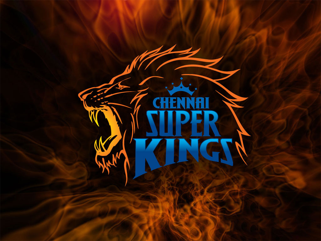 ipl csk chennai super kings lion logo burning fire hd wallpaper