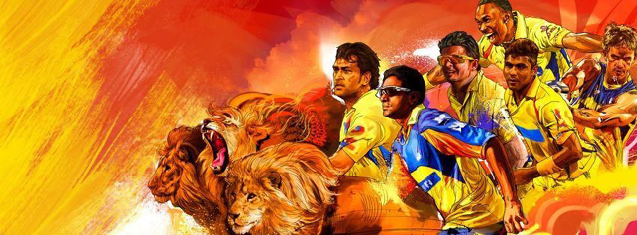 ipl csk chennai super kings riding on lions hd wallpaper