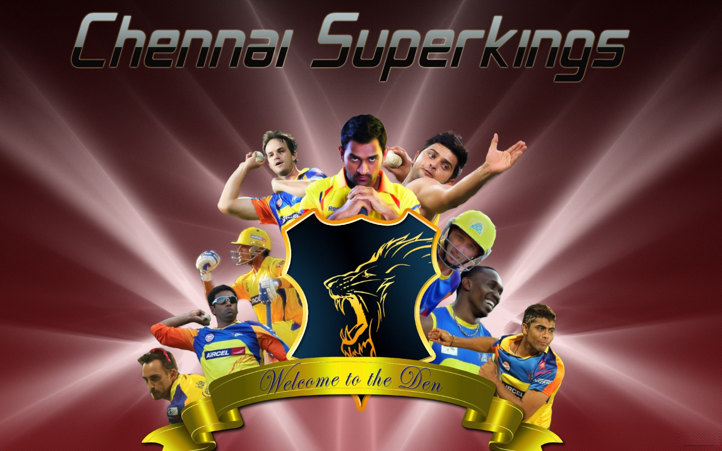 ipl csk chennai super kings welcome to the den dhoni hd wallpaper