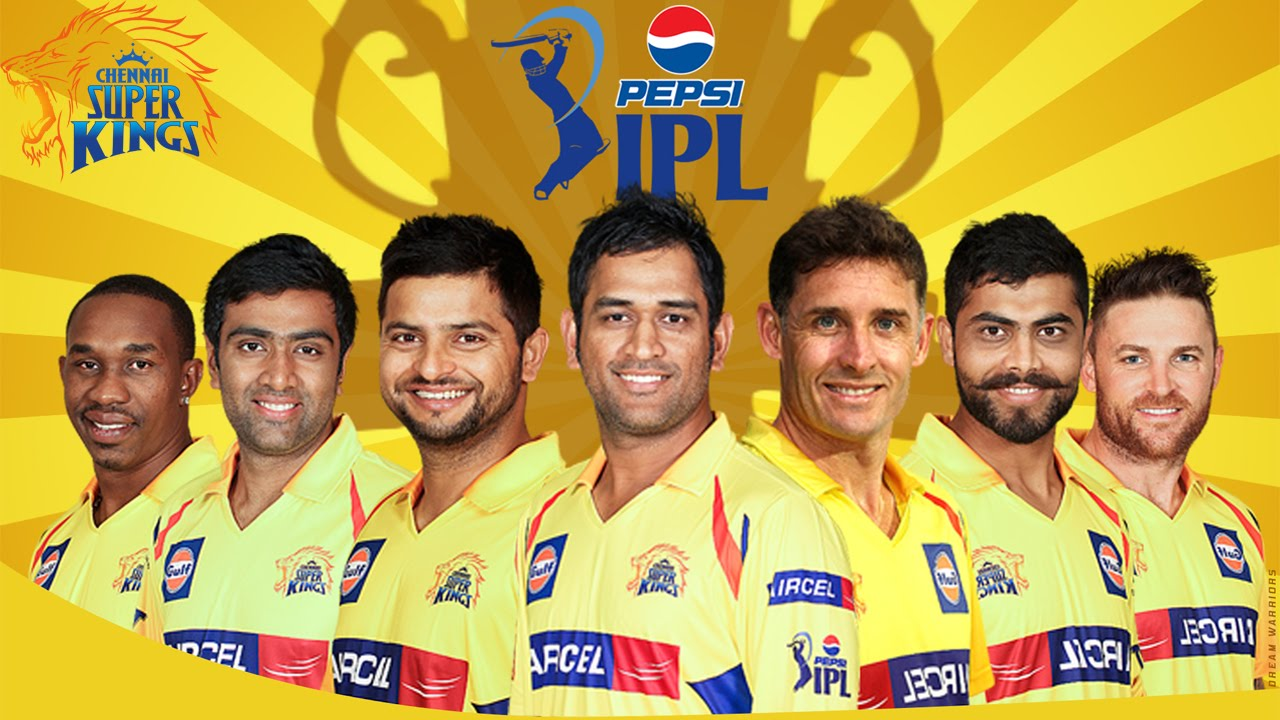ipl t20 csk chennai super kings team squad hd wallpaper