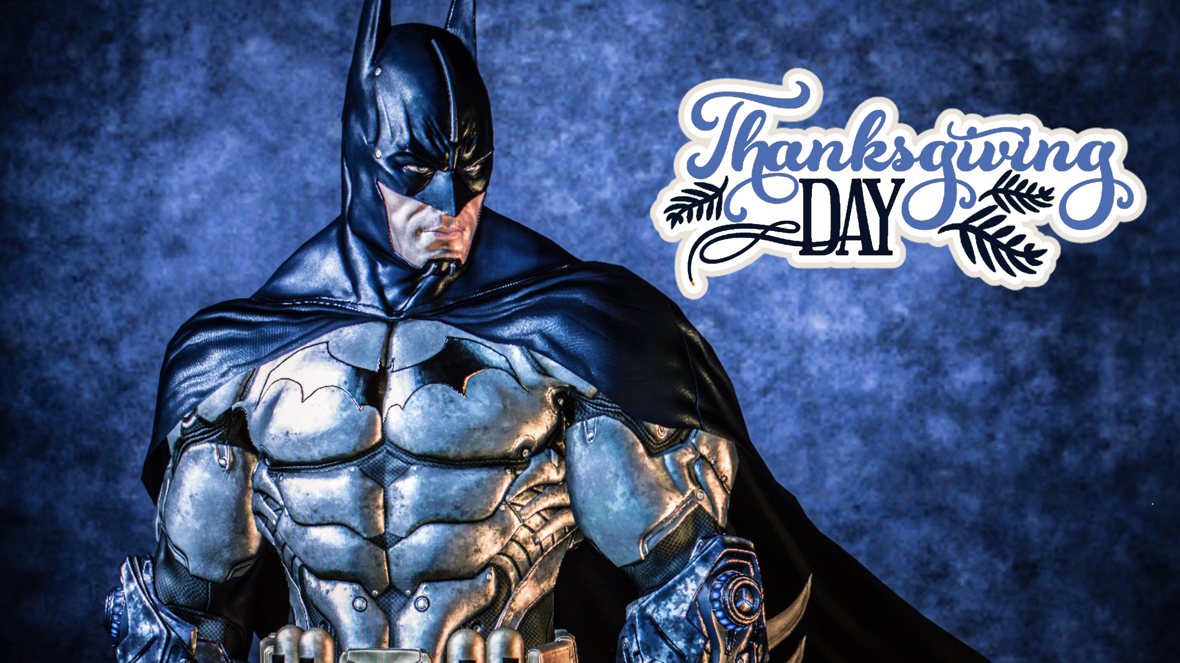 batman wishing happy thanksgiving day ultra hd wallpaper