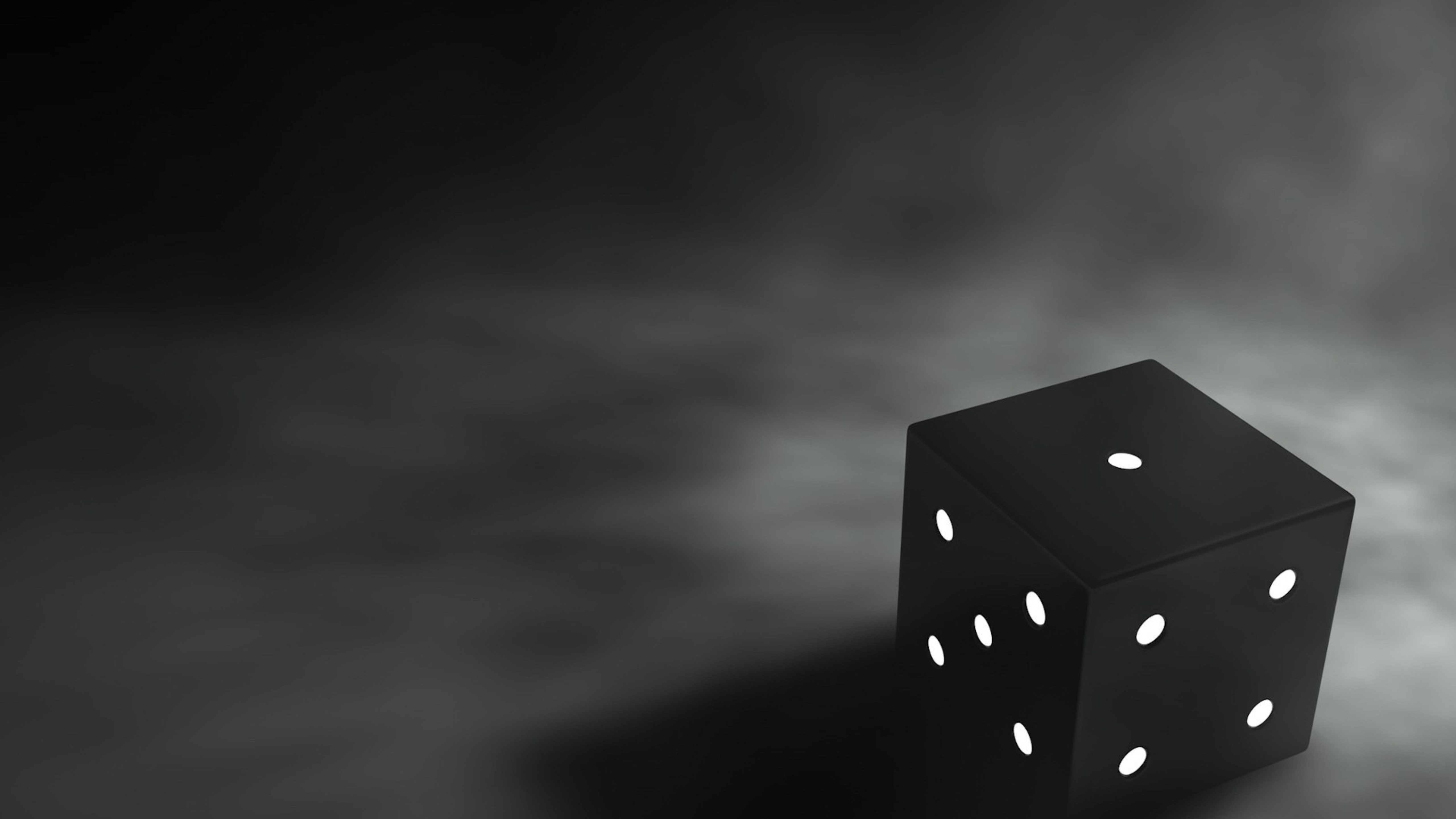 black dice on a dark backgound hd wallpaper