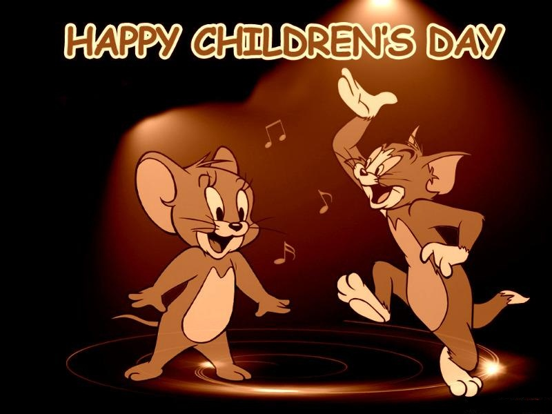 happy childrens day tom and jerry wishes hd wallpaper