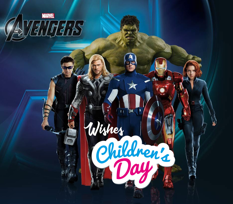 happy childrens day wishes greetings avengers team hd wallpaper