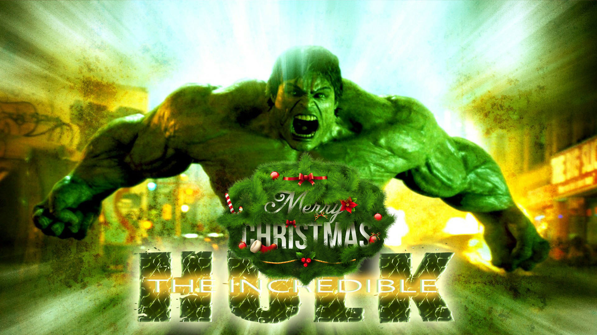 happy christmas incredible hulk marvel avenger strongest superhero hd wallpaper