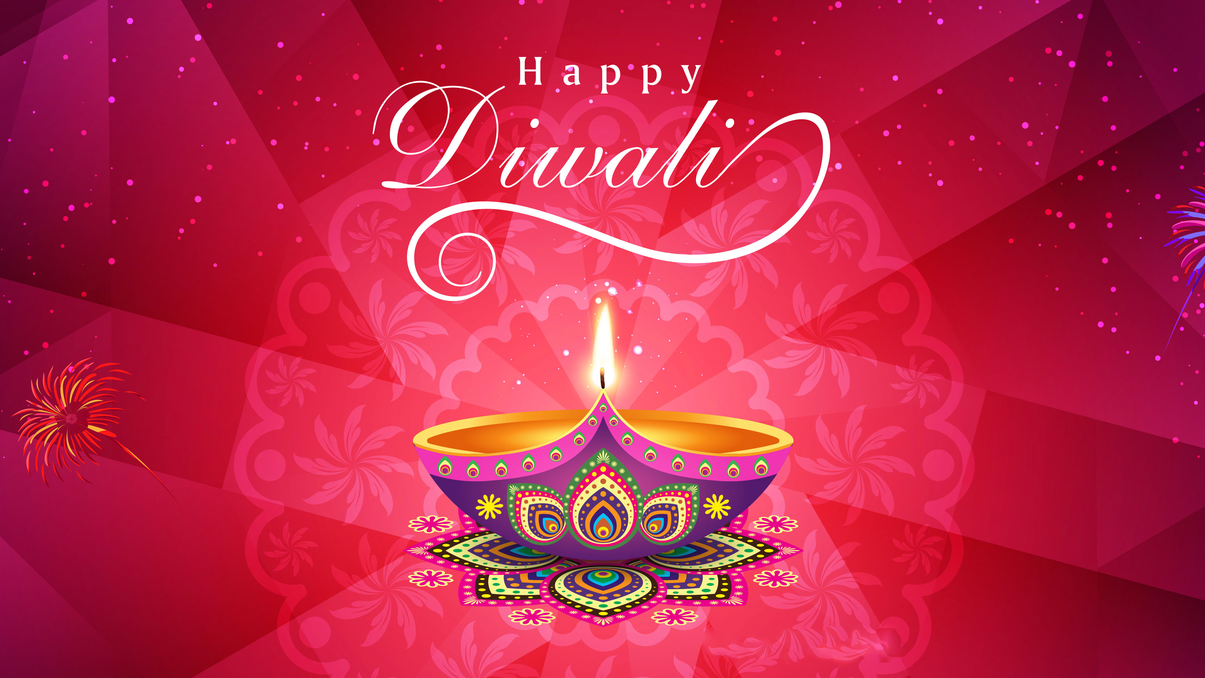 happy diwali deepavali indian festival 4k ultra hd wallpaper