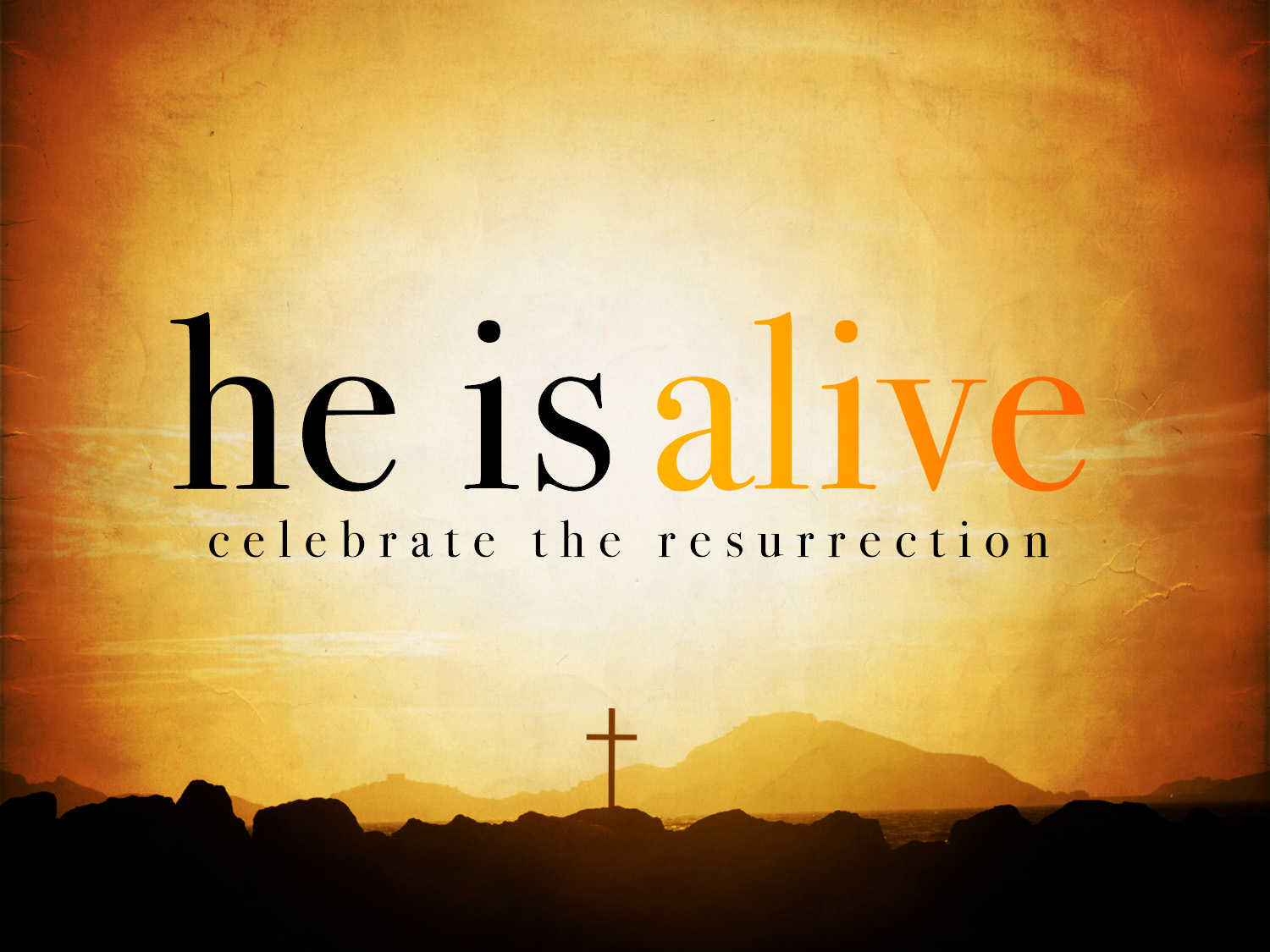 happy easter wishes he is alive celebrate the resurrection hd wallpaper
