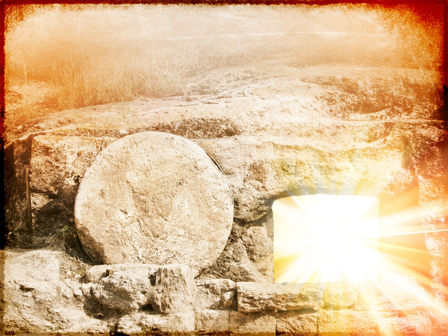 happy easter wishes resurrection jesus alive risen from dead empty tomb