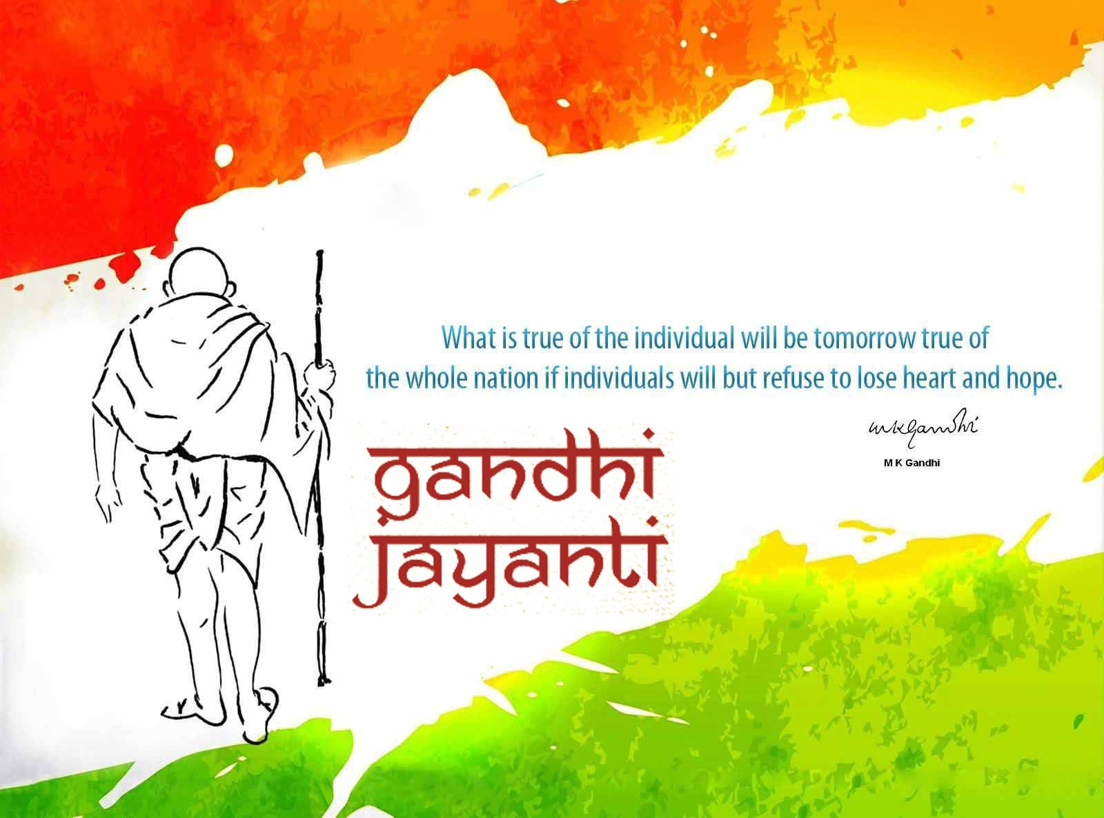 happy gandhi jayanti bapu quotes background wallpaper