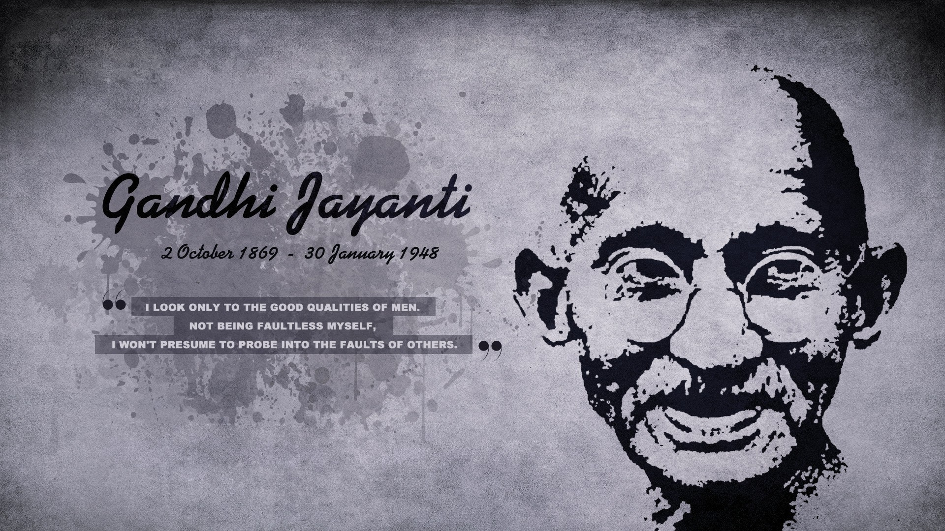 happy gandhi jayanti october 2nd quotes wallpaper