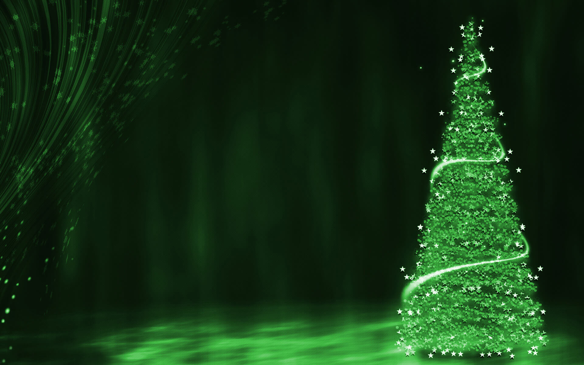 happy merry christmas eve wishes green tree stars hd wallpaper