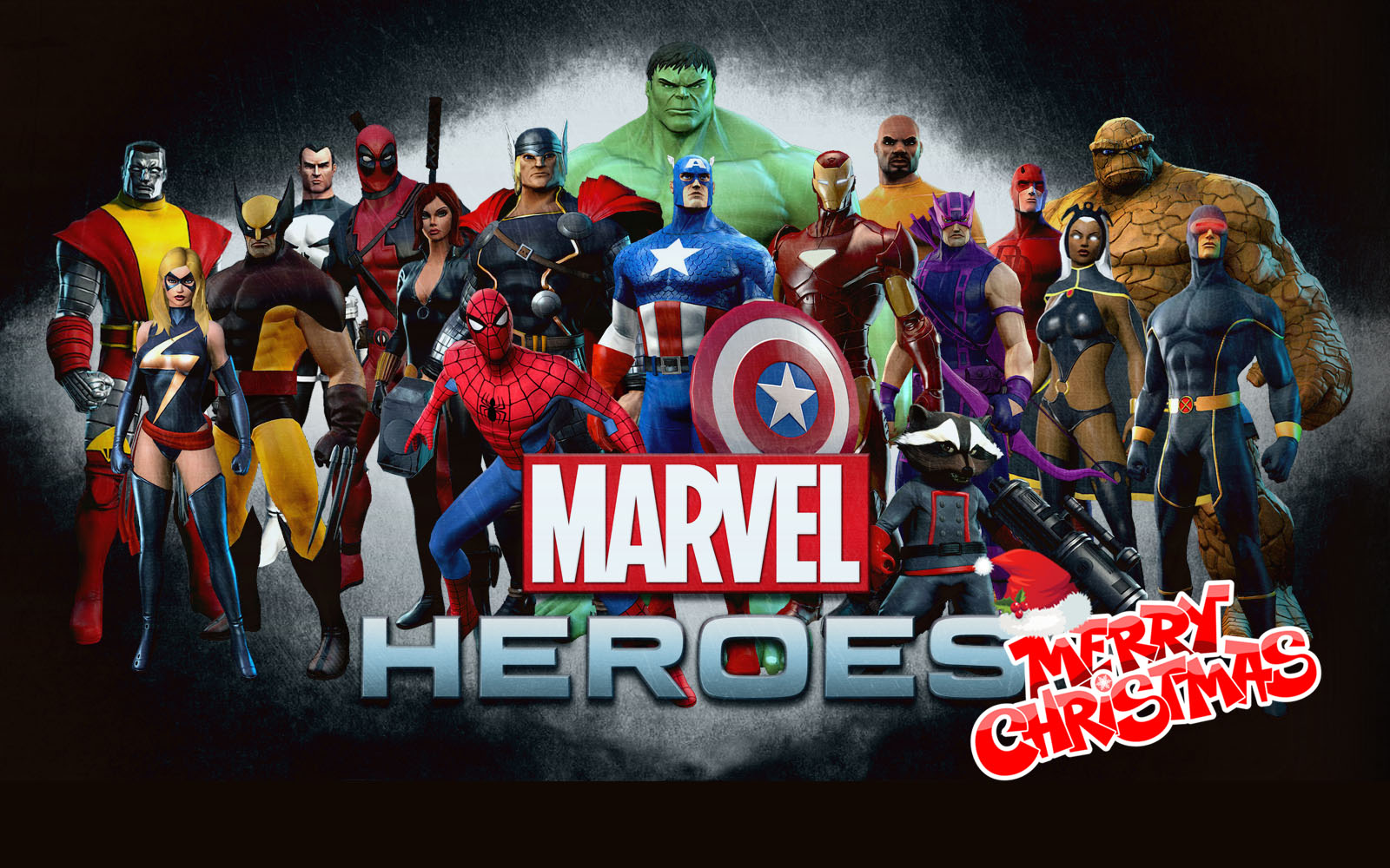 happy merry christmas greetings marvel avengers team super heroes hd wallpaper