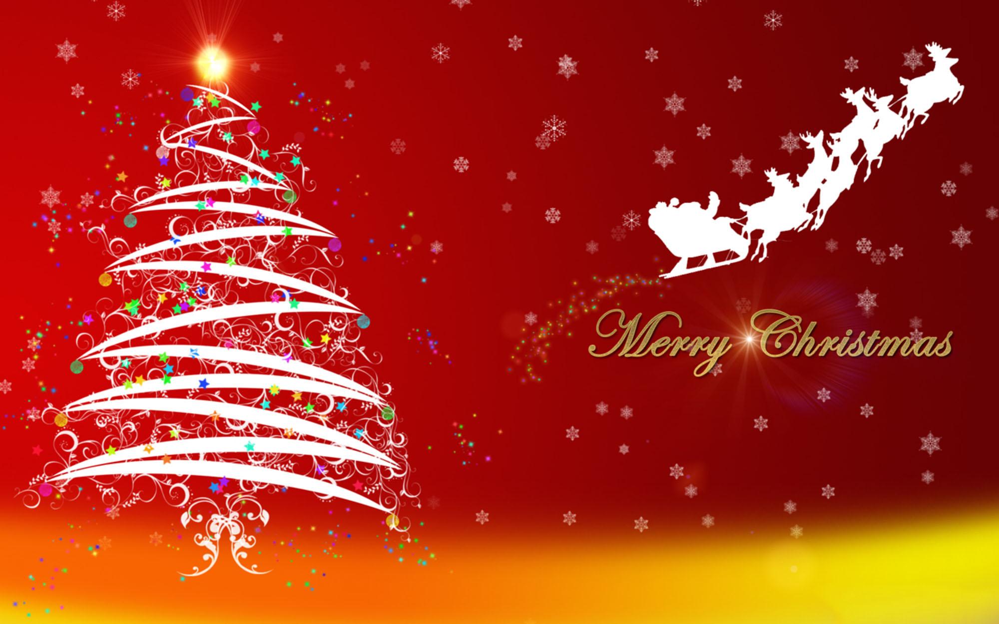 happy merry christmas greetings wishes rein deer wallpaper