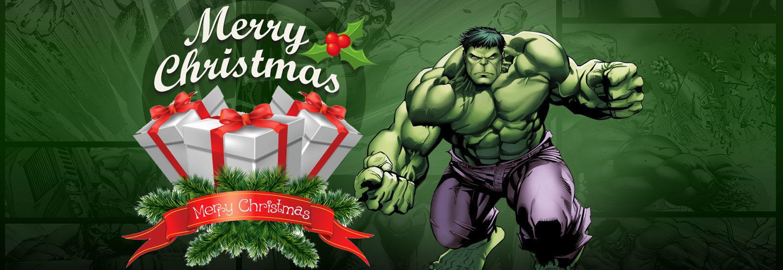happy merry christmas greetings wishes super hero hulk kids hd wallpaper