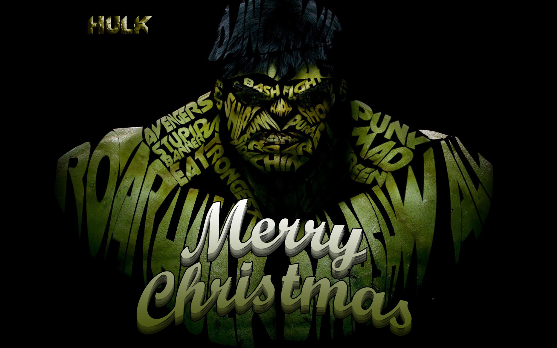 happy merry christmas incredible hulk marvel avenger superhero background hd wallpaper