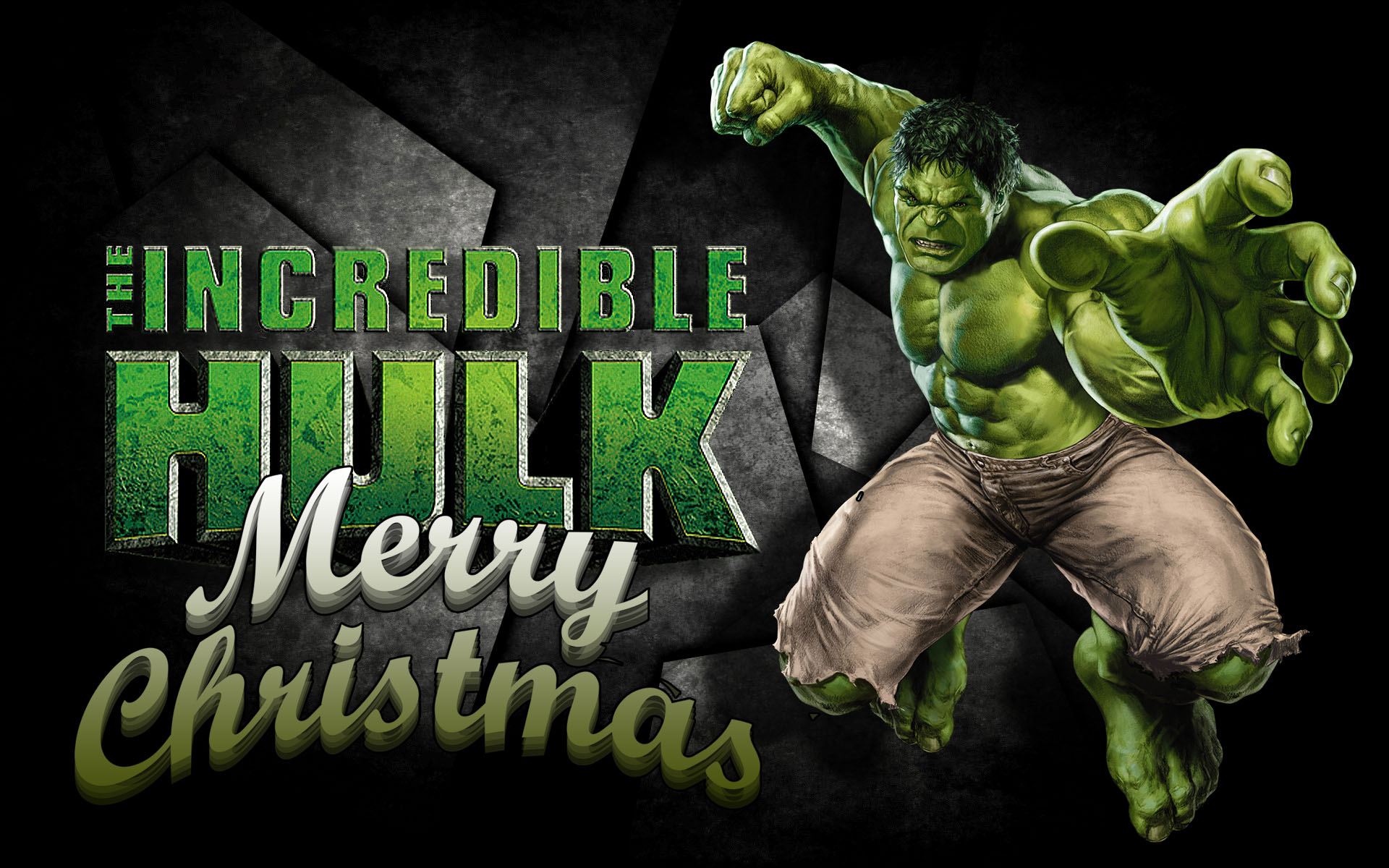 happy merry christmas incredible hulk marvel avenger superhero pc hd wallpaper
