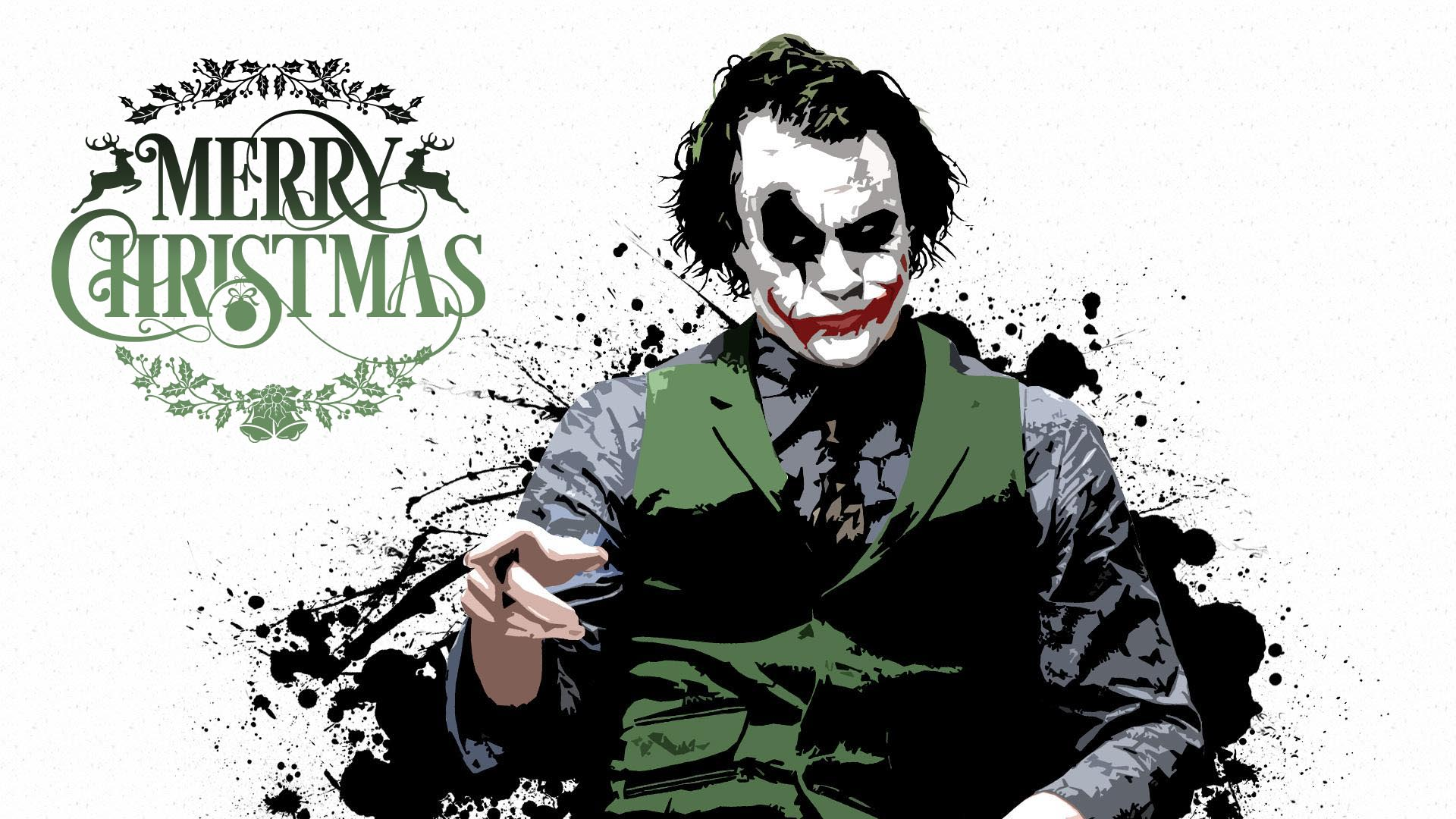 happy merry christmas wishes greetings joker hd desktop wallpaper