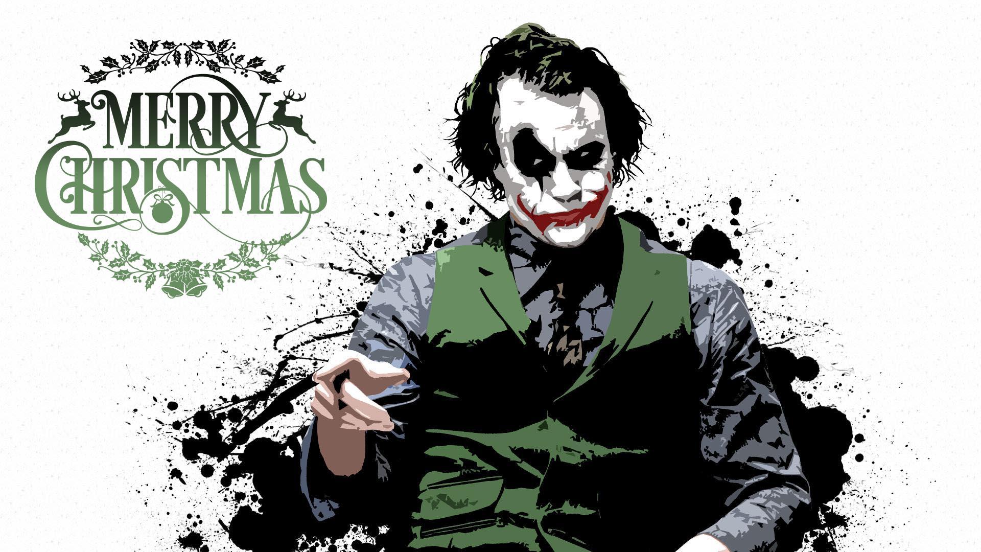 happy merry christmas wishes greetings joker hd desktop wallpaper
