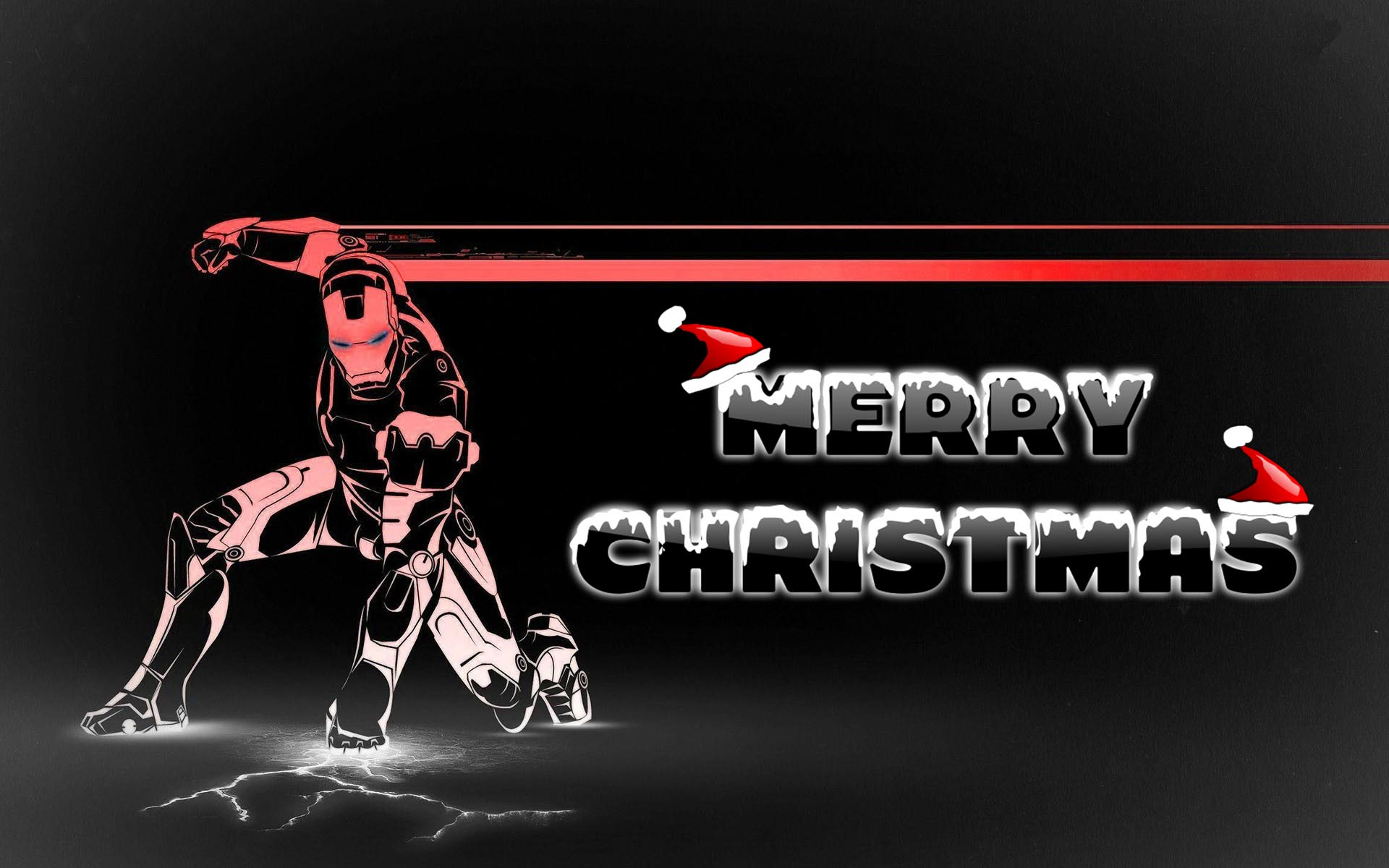 happy merry christmas wishes super hero ironman kids art hd wallpaper