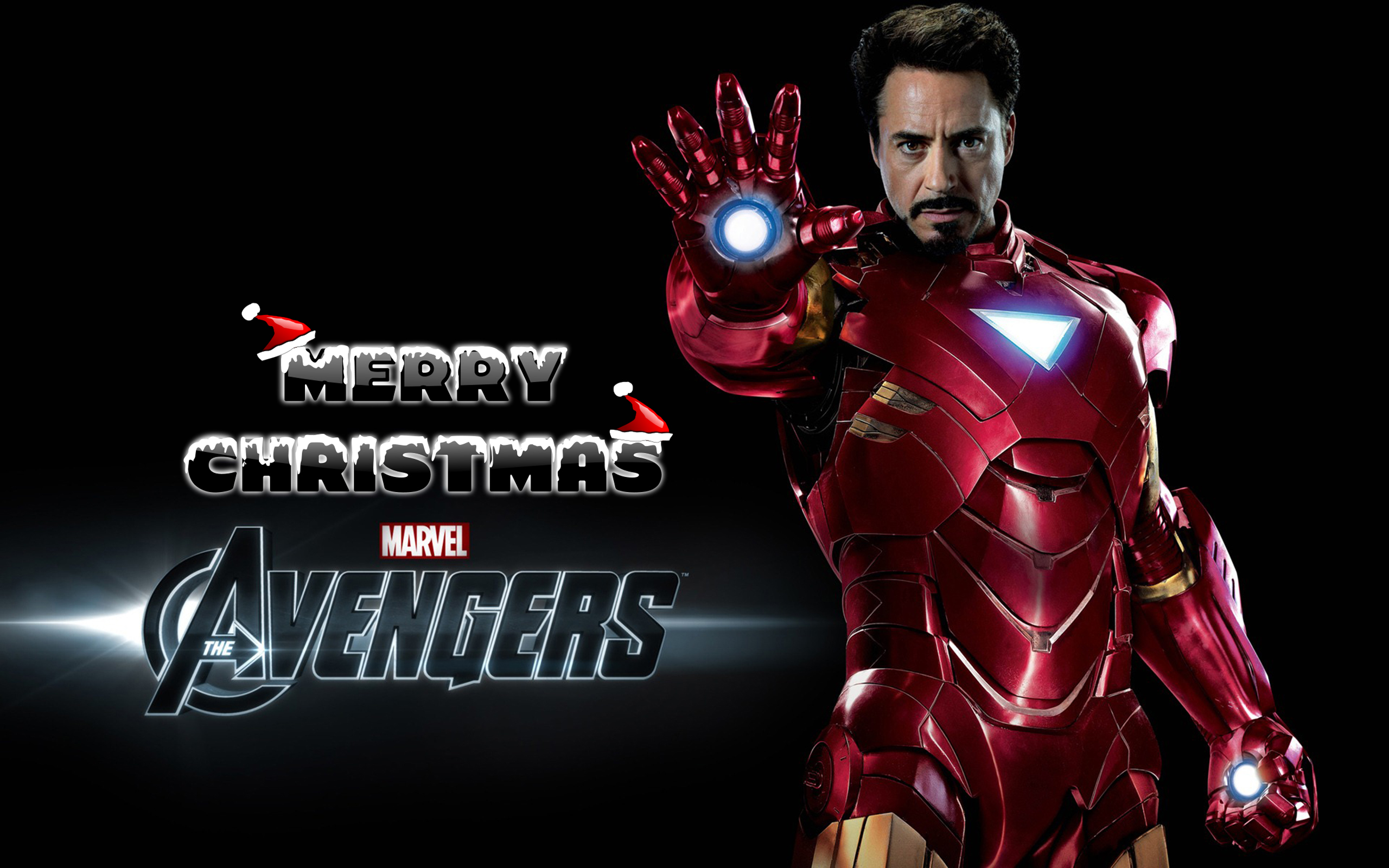 happy merry christmas wishes super hero ironman kids hd wallpaper
