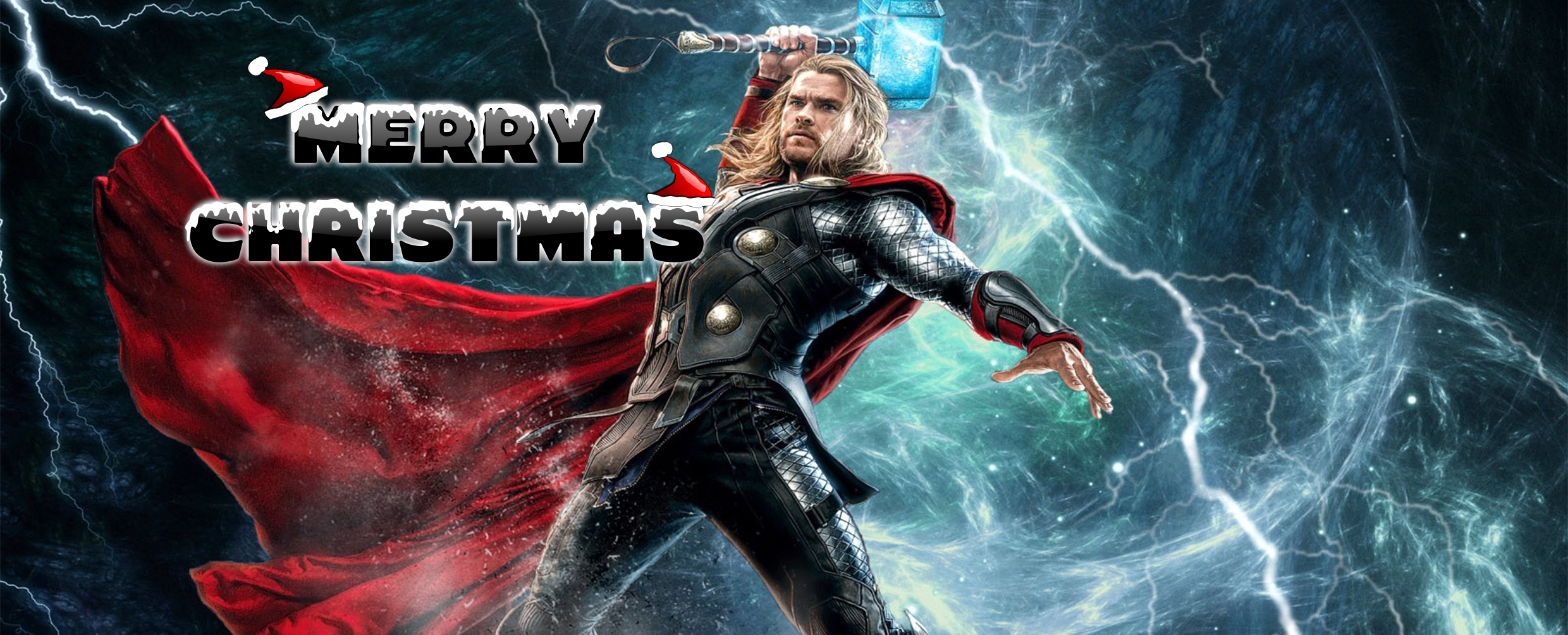 happy merry christmas wishes super hero thor kids hd wallpaper
