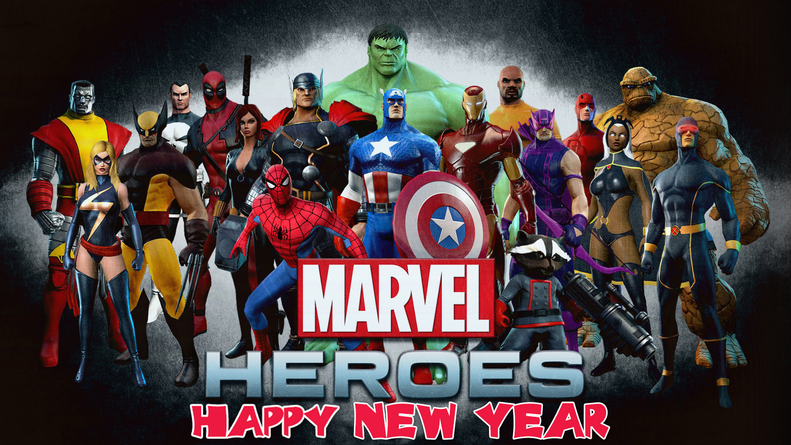 happy new year greetings marvel avengers team super heroes hd wallpaper