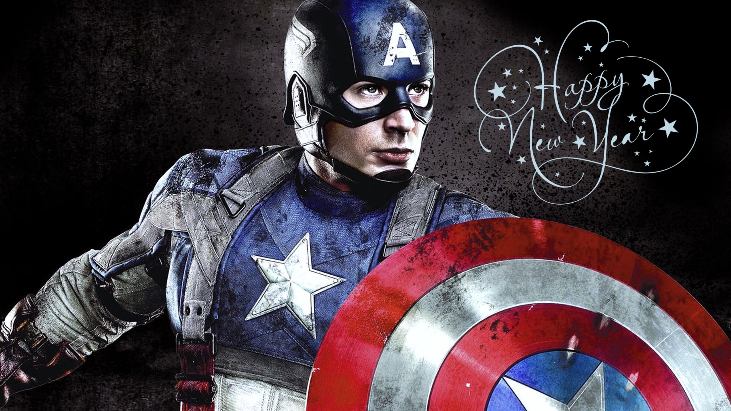 happy new year greetings super hero captain america kids hd wallpaper