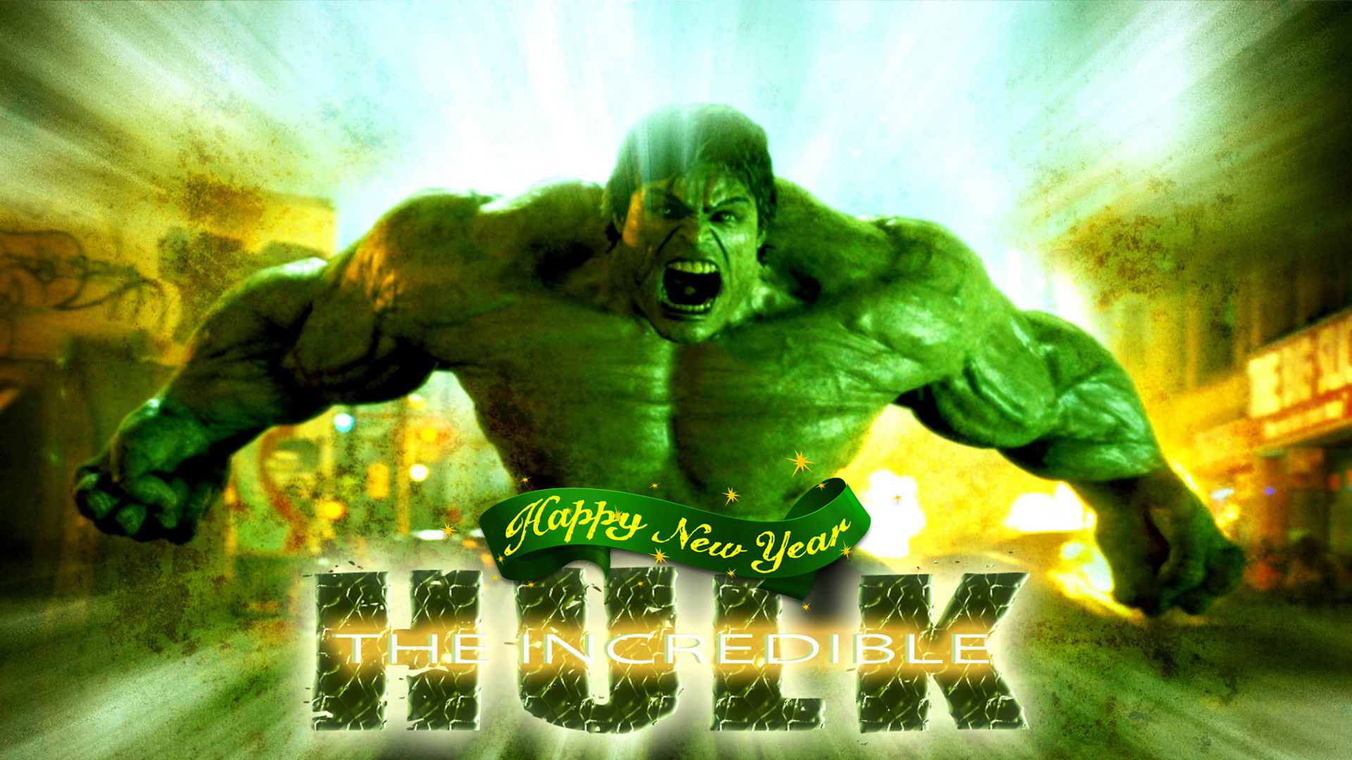happy new year incredible hulk marvel avenger strongest superhero hd wallpaper