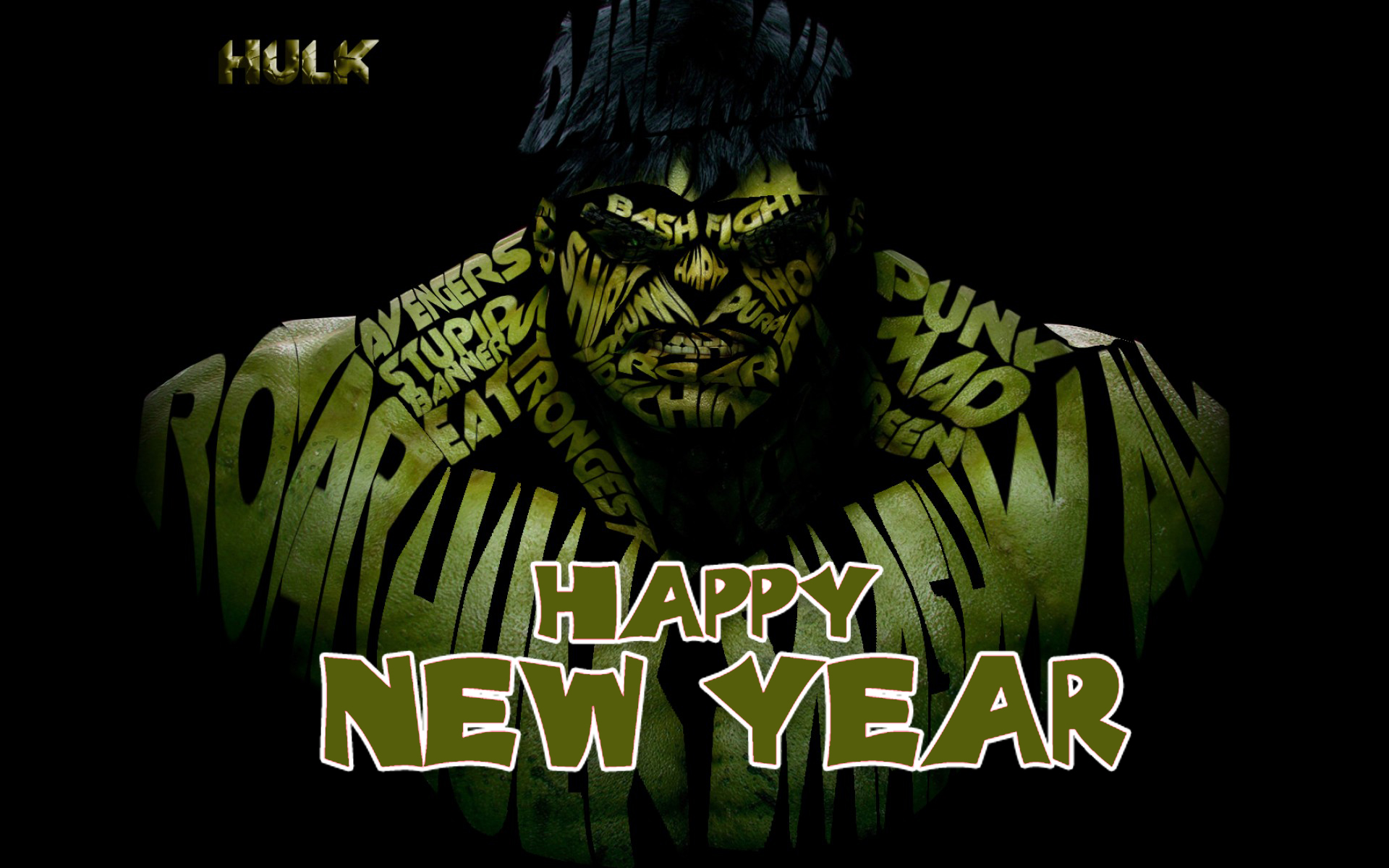 happy new year incredible hulk marvel avenger superhero background hd wallpaper