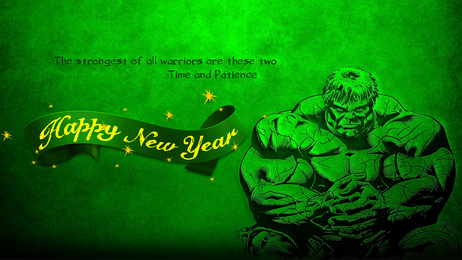 happy new year incredible strongest warrior hulk quotes marvel avenger hd wallpaper
