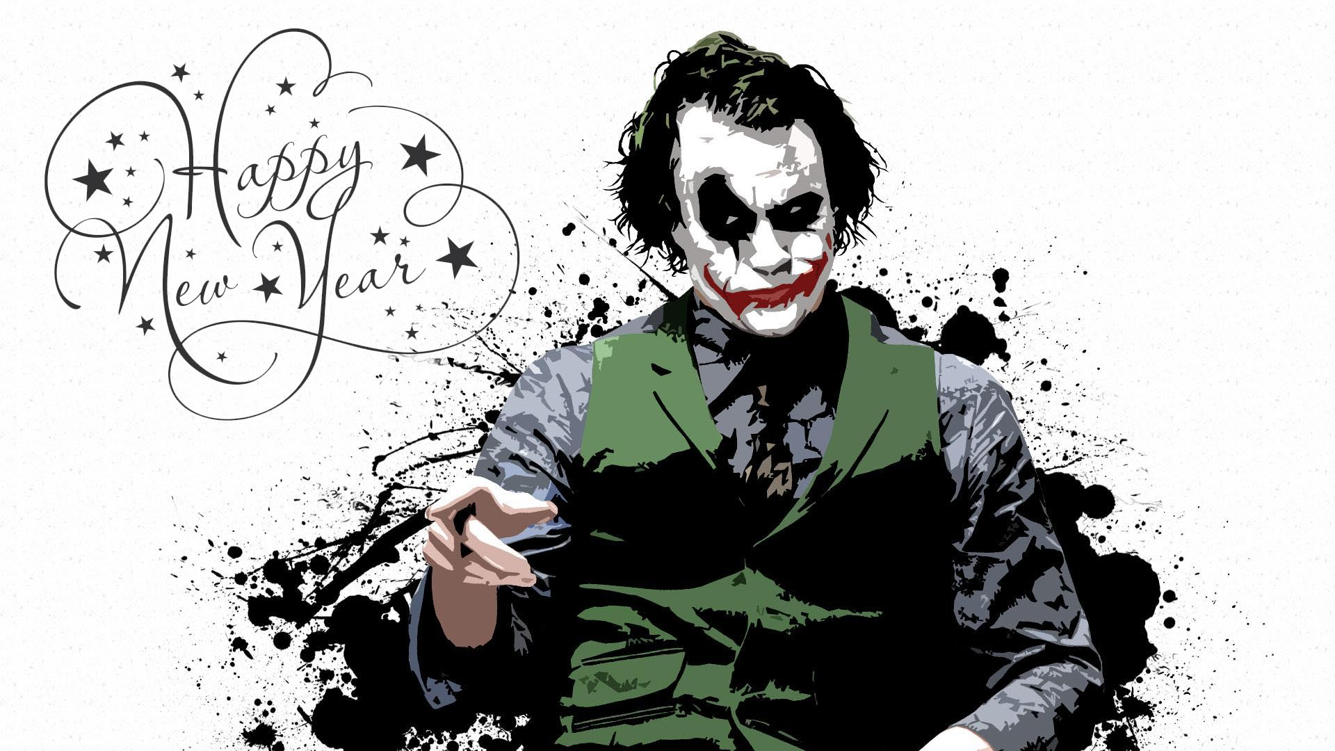 happy new year wishes greetings joker hd desktop wallpaper
