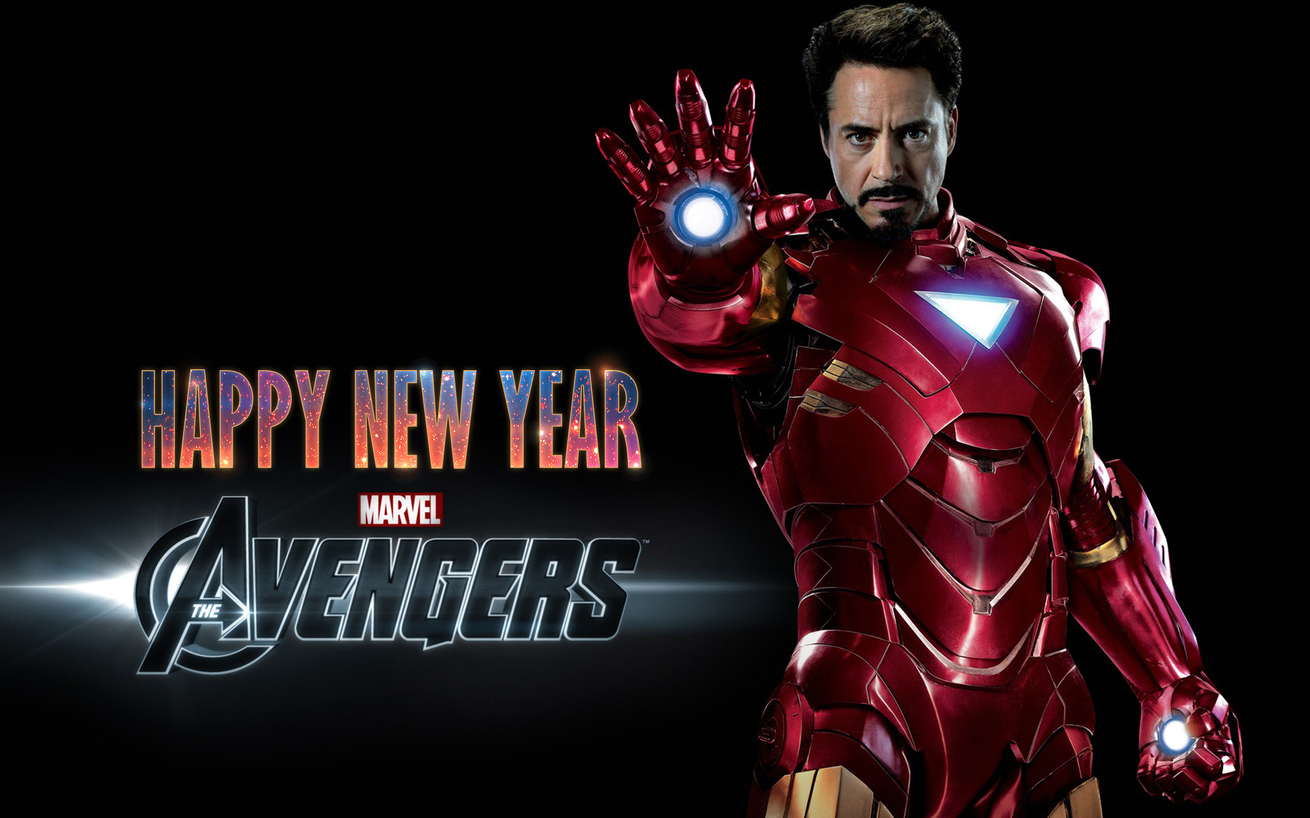 happy new year wishes super hero ironman kids hd wallpaper