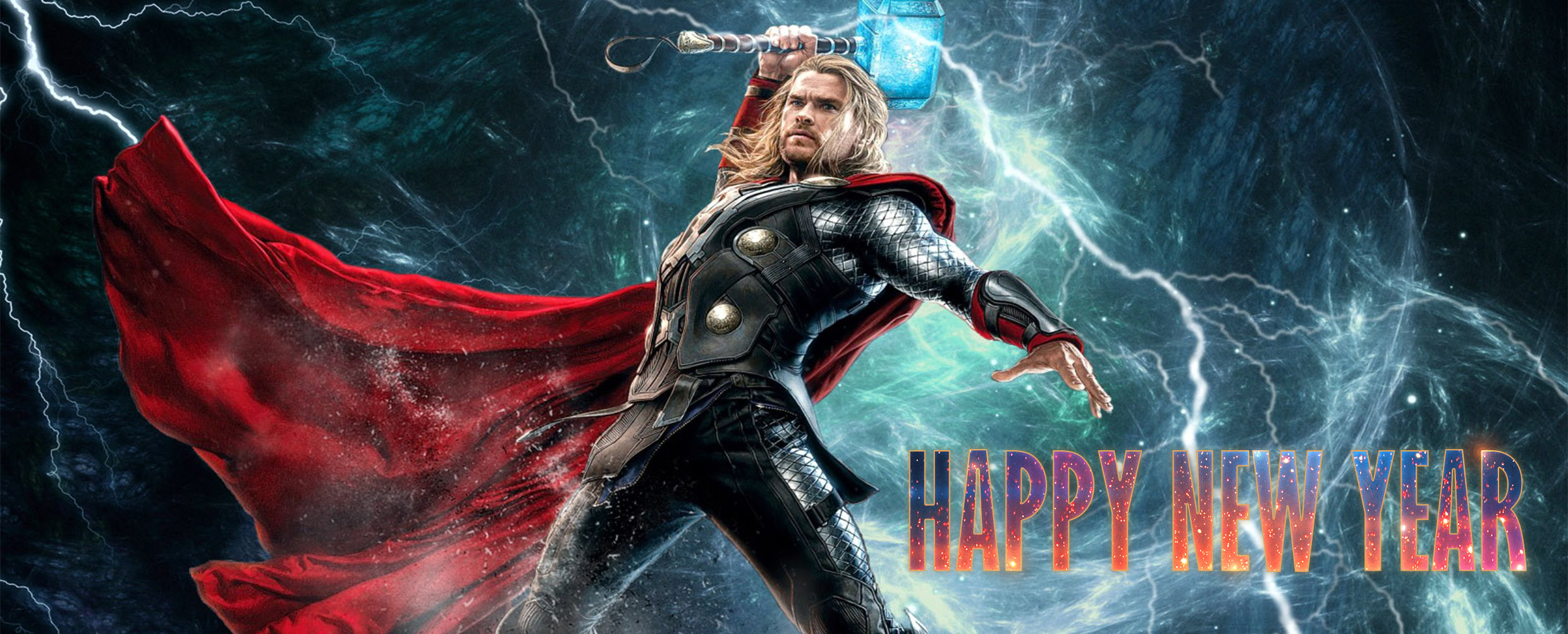 happy new year wishes super hero thor kids hd wallpaper