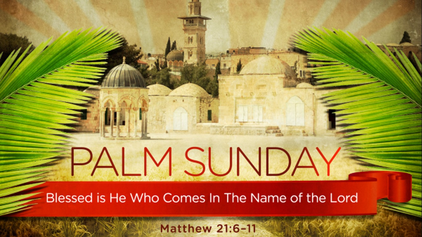 happy palm sunday wishes hosanna jesus christ hd image wallpaper