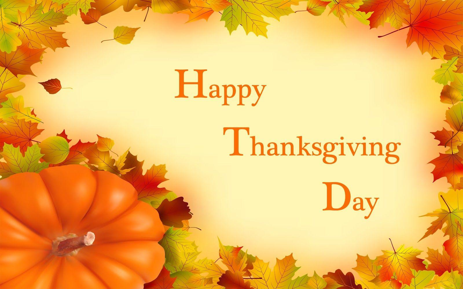 happy thanksgiving day pumpkin hd pc background wallpaper